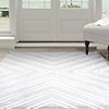Lavish Home Kaleidoscope Area Rug - Grey & White - 5'x7'7