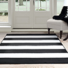 Lavish Home Breton Stripe Area Rug - Black & White - 5'x7'7