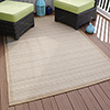 Lavish Home Casual Stripe Indoor/Outdoor Area Rug - Beige - 5'x7'7