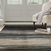 Lavish Home Opus Dark Abstract Stripes Area Rug - Blue - 8'x10'