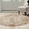 Lavish Home Shag Area Rug - Natural - 5' Round
