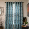 Lavish Home Metallic Grommet Curtain Panels 84 inch - Teal