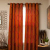 Lavish Home Metallic Grommet Curtain Panels 84 inch - Rust