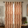 Lavish Home Metallic Grommet Curtain Panels 84 inch - Apricot