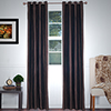 Lavish Home 2 Panel Wavy Curtain Set w/ Grommets - Chocolate