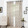 Set of 2 Lavish Home Andrea Embroidered Curtain Panel - 108