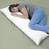 Memory Foam Body Pillow, Bed Pillows for Comfort and Support by Castle Point (Removable Pillow Cover)