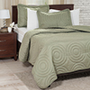Lavish Home Solid Embossed 3 Piece Quilt Set - Full/Queen - Green