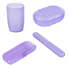 Everyday Home 4 piece Bathroom Travel Accessory Kit - Purple