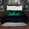 Lavish Home Marijuana Leaf Heavy Thick Plush Mink Blanket - 8 pound