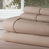 Lavish Home Series 1200 4 Piece Queen Sheet Set - Taupe