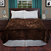 Lavish Home Solid Soft Heavy Thick Plush Mink Blanket 8 pound - Coffee