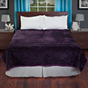 Lavish Home Solid Soft Heavy Thick Plush Mink Blanket 8 pound - Purple