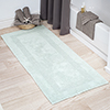 Cotton Bath Mat- Plush 100 Percent Cotton 24x60 Long Bathroom Runner- Reversible, Soft, Absorbent, and Machine Washable Rug by Lavish Home (Seafoam)
