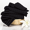6-Piece Cotton Deluxe Plush Bath Towel Set ? Chevron Patterned Plush Sculpted Spa Luxury Decorative Body, Hand and Face Towels by Lavish Home (Black)