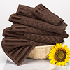 6-Piece Cotton Deluxe Plush Bath Towel Set ? Chevron Pattern Plush Sculpted Spa Luxury Decorative Body Hand and Face Towels by Lavish Home (Chocolate)