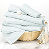 6-Piece Cotton Deluxe Plush Bath Towel Set ? Chevron Pattern Plush Sculpted Spa Luxury Decorative Body, Hand and Face Towels by Lavish Home (Seafoam)