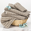 6-Piece Cotton Deluxe Plush Bath Towel Set ? Chevron Pattern Plush Sculpted Spa Luxury Decorative Body, Hand and Face Towels by Lavish Home (Taupe)