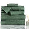 Lavish Home Ribbed 100% Cotton 10 Piece Towel Set - Green