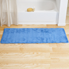 Microfiber Memory Foam Bathmat ? Oversized Padded Nonslip Accent Rug for Bathroom, Kitchen, Laundry Room, Wave Pattern by Lavish Home (Blue)