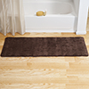 Microfiber Memory Foam Bathmat ? Oversized Padded Nonslip Accent Rug for Bathroom, Kitchen, Laundry Room, Wave Pattern by Lavish Home (Chocolate)