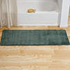 Microfiber Memory Foam Bathmat ? Oversized Padded Nonslip Accent Rug for Bathroom, Kitchen, Laundry Room, Wave Pattern by Lavish Home (Green)