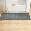 Microfiber Memory Foam Bathmat ? Oversized Padded Nonslip Accent Rug for Bathroom, Kitchen, Laundry Room, Wave Pattern by Lavish Home (Platinum)