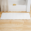 Microfiber Memory Foam Bathmat ? Oversized Padded Nonslip Accent Rug for Bathroom, Kitchen, Laundry Room, Wave Pattern by Lavish Home (White)