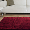 Lavish Home High Pile Shag Rug Carpet - Burgundy - 21x36