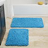 Lavish Home 2 Piece Memory Foam Shag Bath Mat - Blue