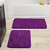 Lavish Home 2 Piece Memory Foam Shag Bath Mat - Purple