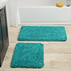 Lavish Home 2 Piece Memory Foam Shag Bath Mat - Seafoam