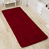 Lavish Home Memory Foam Shag Bath Mat 2-feet by 5-feet - Burgundy