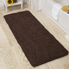 Lavish Home Memory Foam Shag Bath Mat 2-feet by 5-feet - Chocolate