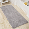 Lavish Home Memory Foam Shag Bath Mat 2-feet by 5-feet - Grey
