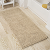 Lavish Home Memory Foam Shag Bath Mat 2-feet by 5-feet - Ivory