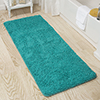 Lavish Home Memory Foam Shag Bath Mat 2-feet by 5-feet - Seafoam