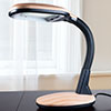 Natural Sunlight Desk Lamp, Great For Reading and Crafting, Adjustable Gooseneck, Home and Office Lamp by Lavish Home, Light Wood Grain