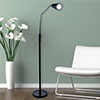 Lavish Home 5 Foot LED Flexible Adjustable Floor Lamp - Black