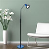 Lavish Home 5 foot LED Flexible Adjustable Floor Lamp - Blue