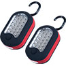 Stalwart LED Worklight with Magnet Back - Red/Black - Set of 2