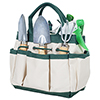 7 Piece Gardening Tool Set ? Mini Planting and Repotting Kit and Carrying Tote Bag Organizer for Succulents, Herbs, and Bonsai Plants by Pure Garden