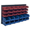 Storage Drawers-30 Compartment Wall Mount Organizer Bins- Easy Access Compartments for Hardware, Nails, Screws, Beads, Jewelry, and More by Stalwart