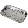 Stalwart Stainless Steel Rectangular Magnetic Parts Tray - 9 x 5 inch