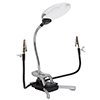 Stalwart 2x Desktop & Clip On LED Magnifier Lamp with 5x Bifocal Lens