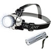 LED Headlamp, Adjustable Headband and Flashlight, Set of 4, Battery Operated 48 Lumen LED Bulbs for Camping, Running, Hiking and Emergency by Stalwart