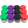 Stalwart Set of 12 20 ml Color Coded Plastic Jars