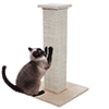 Cat Scratching Post Tower with Carpeted Base ? 28-Inch Sisal Burlap Fabric Scratcher ? Furniture Scratching Deterrent for Indoor Cats by PETMAKER