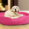 PETMAKER Small Cuddle Round Plush Pet Bed - Pink