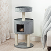 PETMAKER Kitty Cat Condo with Overhead Balcony - Grey